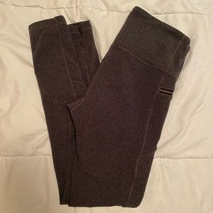 Athleta Herringbone Charcoal Grey Textured Legging